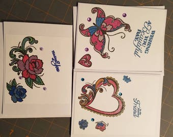Set of 3 friendship cards