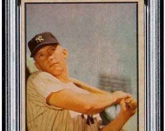 1953 Bowman Color #59 Mickey Mantle PSA 4 - Sharp Corners