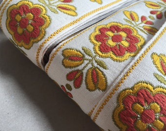 German vintage Ribbon: Braided flower 5cm x 100cm