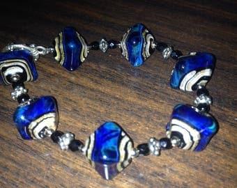 Bracelet of venetian art glass 20cm
