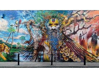 Wall, Art, Landscape, Photography