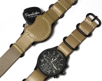 Guitar pick holder with nato strap/ Watch strap/ Watch band/ KHAKI