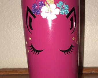 Custom Unicorn Metal Tumbler