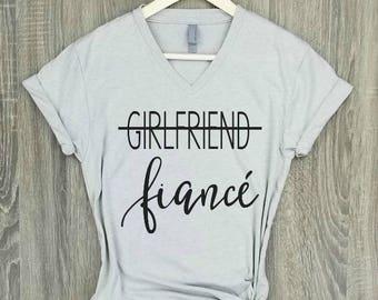 fiance shirt, silk, engaged AF, wifey shirt, engagement shirt, engaged top, bridal gift, bride gift, wedding gift, bridal shower gift