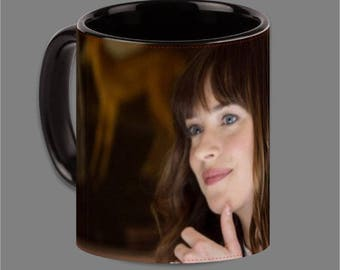 Dakota Johnson Jamie Dornan Coffee Cup Fifty Shades #0013