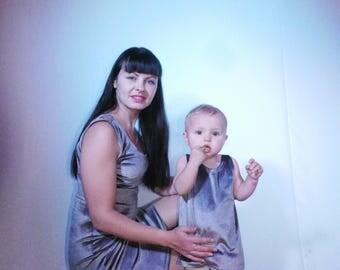 Me and Mommy matching midi dress Sleeveless belt dress