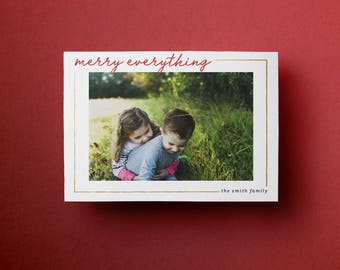 Printable Christmas Card // Merry Everything - Customizable