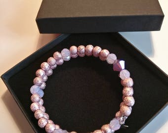 Dusty pink and rose colour bracelet