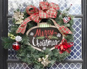 Holiday wreath, Christmas wreath, Holiday decor