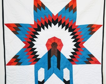Native American design quilted wall art