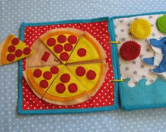 Quiet game,Pizza game - knowing numbers from 1 to 6, a mathematic game,   Gift for Kid, game for ages 2-6