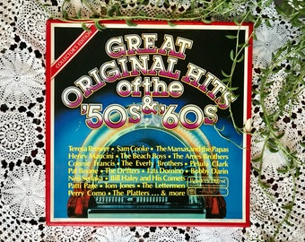 vintage vinyl records 50's & 60's / reader's digest collector's edition great original hits