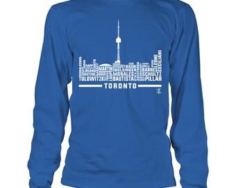 Kevin Pillar T-shirt - Skyline 2017 Roster - Gildan Long-sleeve T-shirt - Ontario Canada - Free Shipping - Officially Licensed Apparel