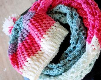Infinity Scarf, Crochet Beanie