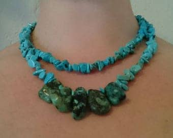 Double Necklace Turquoise