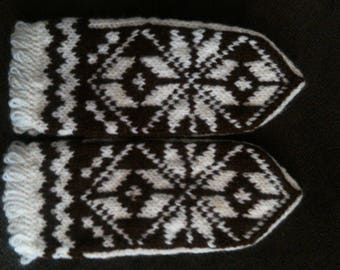 Mittens, hand knitted