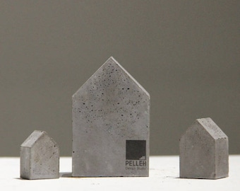 minimal concrete Bookends | Bookstopper
