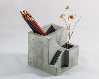 Concrete Pencil Holder | pen holder