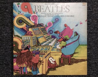 Switch on The Beatles 1974 Moog Electronica Interpretation USA Press LP as performed by World Electronic Chamber Ensemble VG+ 33rpm