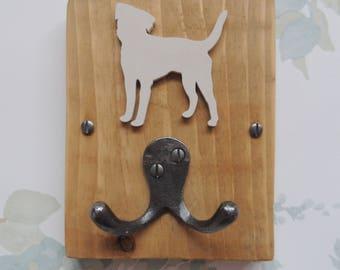Rustic Wooden Dog Lead Hook