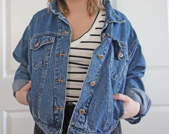 1990s Denim Jacket | Vintage Jacket Bill Blass