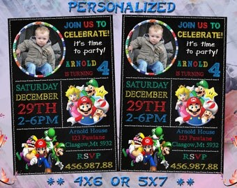 Super Mario Invitation,Super Mario Birthday Invitation,Super Mario Party,Super Mario Birthday,Super Mario Invite,Super Mario Card