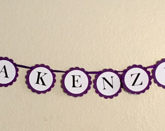 Butterfly Name Banner