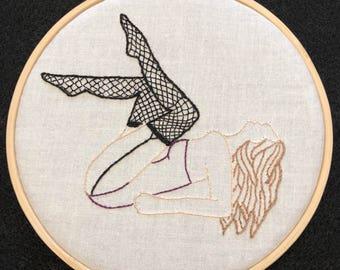 Pinup hoop art series 1