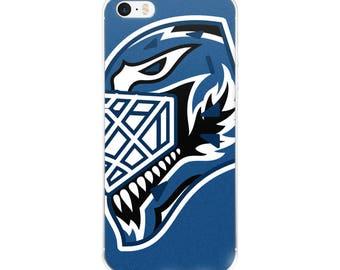 "Blue ""92"" Goalie Mask iPhone Case"