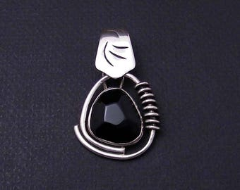 Silpada 925 Sterling Silver and Faceted Black Onyx Pendant