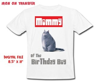 Secret Life Of Pets - Iron On Transfer - Mommy - Life Of Pets Mommy Birthday Shirt Design - DIY Shirt - Digital Files - Instant Download