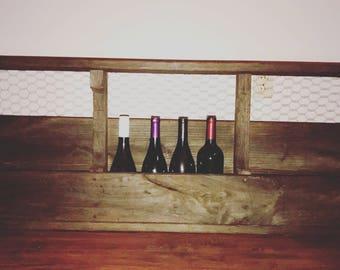 Repurposed Rustic Wine Rack
