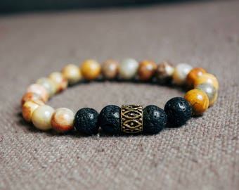 Marble Lava Rock Bracelet