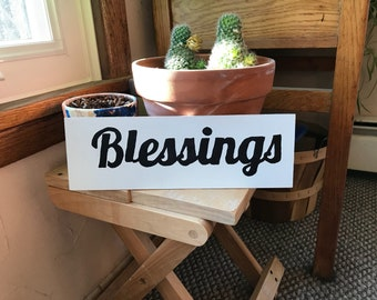 Blessings, wood sign