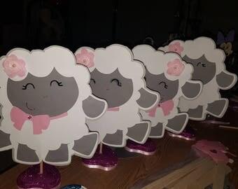 5 Baby lamb centerpieces