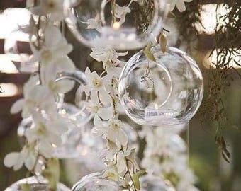 """8 SALE 8"""" Hanging Orbs Terrariums Votive Holder Candle Holder Tea Light Centerpieces Wedding Centerpieces Floral Arrangements Wholesale"""