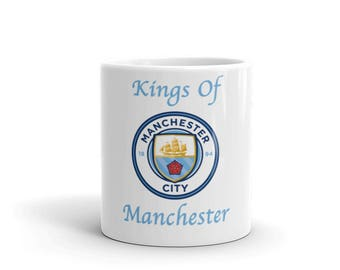 Manchester City Soccer Kings Of Manchester Mug