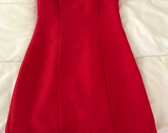 Vintage fitted red dress