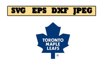 Toronto maple leafs SVG File - Vector Design in, Svg, Eps, Dxf, and Jpeg Format for Cricut and Silhouette, Digital download !!!!!!!!!!!!!!!!