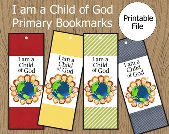 I am a Child of God Bookmark, 2018 Primary Theme, LDS Primary Printable, LDS Primary Bookmark, I am a Child of God Printable