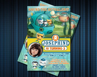 OCTONAUTS INVITATION - Personalized Invitation - Custom Birthday - Printables Invitation - Digital file Download