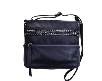 Hith quality leather bag with decoration