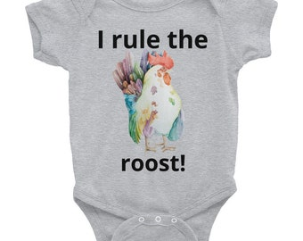 I rule the Roost Rooster Infant Bodysuit, Gift for Baby, Baby Shower,