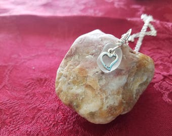 Necklace-Valentine's Day with Beach Glass