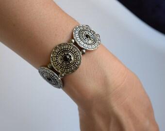 Vintage silver bohemian bracelet