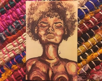 Black Woman Watercolor Painting Photo/Sticker