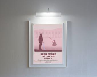 Star wars the last jedi retro film poster!