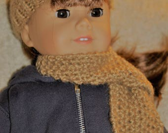 Hat & Scarf Set for 18-in. Doll