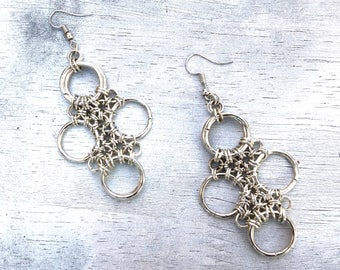 Big Earrings Pendant Chainmaille