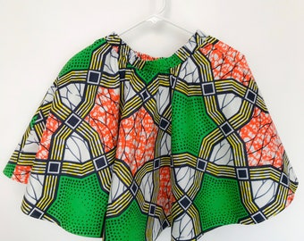 New! African Print Girls Skirt, Elisa Girls Circle Flare Skirt
